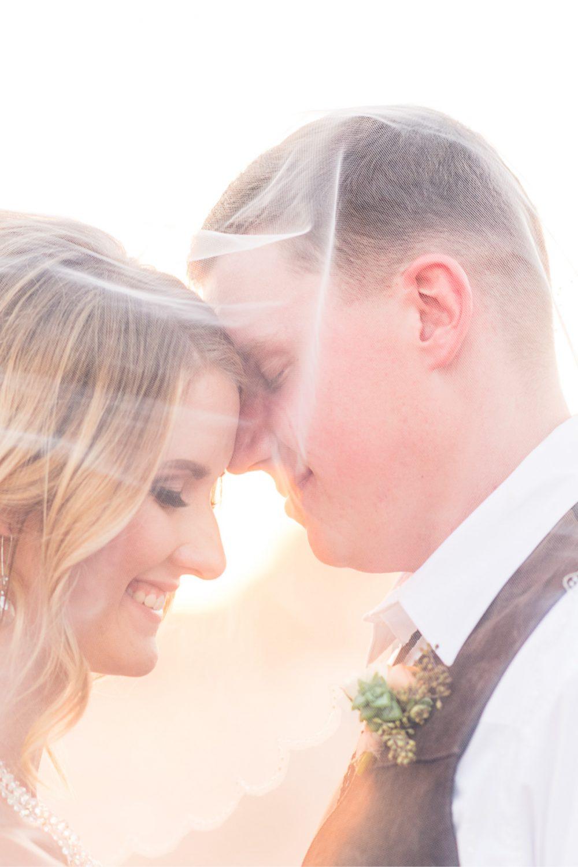 veil, romantic, golden light, wedding, succulent, bouttoniere