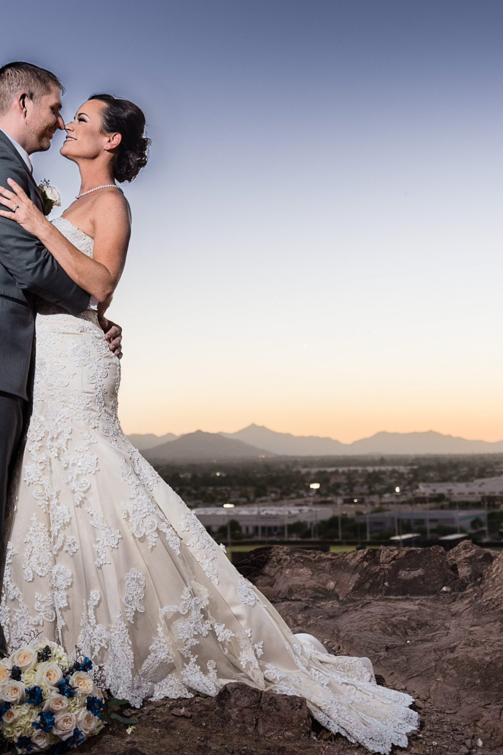 Awesome sunset wedding photo