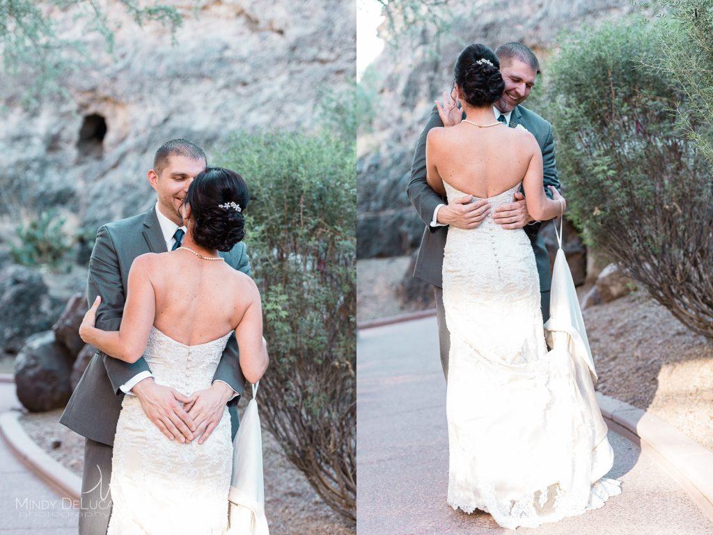 Wedding first look Tempe AZ