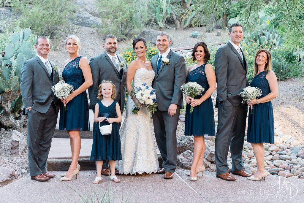 Blue one shoulder bridal party dresses