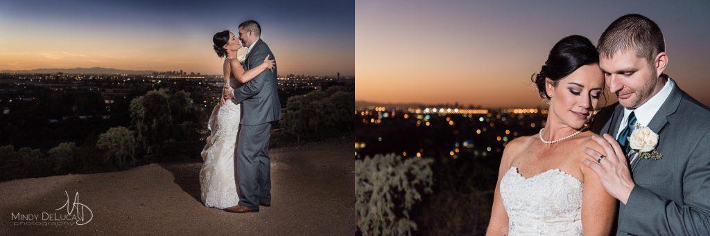 Sunset wedding photos Phoenix