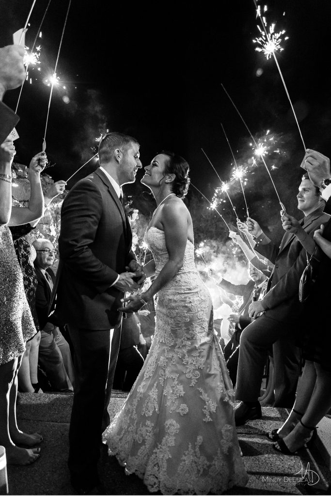 Awesome sparkler exit photo