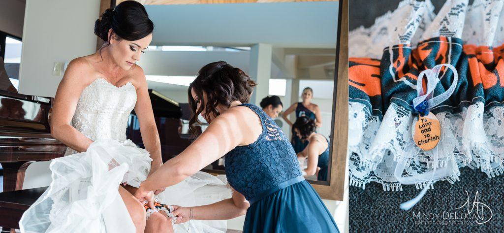 Personalized Chicago Bears wedding garter