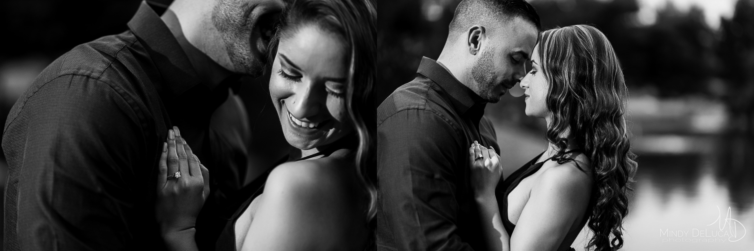 Romantic black & white engagement photos