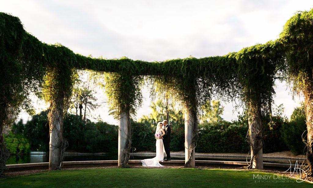 Romantic Luxury Wedding, Blended Family, Columns, Ivy