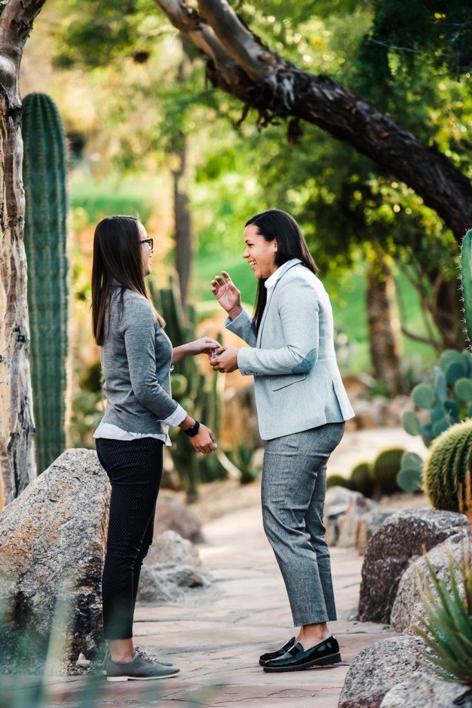 Surprise same sex female wedding proposal