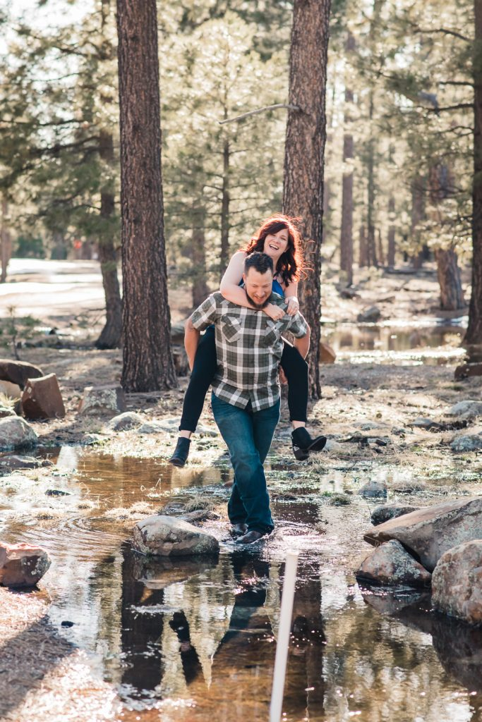 piggy back ride engagement photos