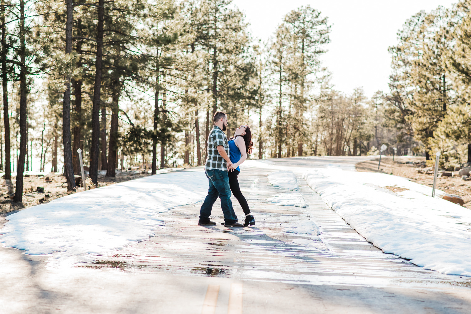 Arizona Forest Road Snow Engagment