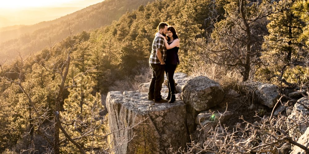 MOGOLLON RIM ENGAGEMENT PHOTOS: White Mountains, AZ Photographer: Ashleigh + Zach