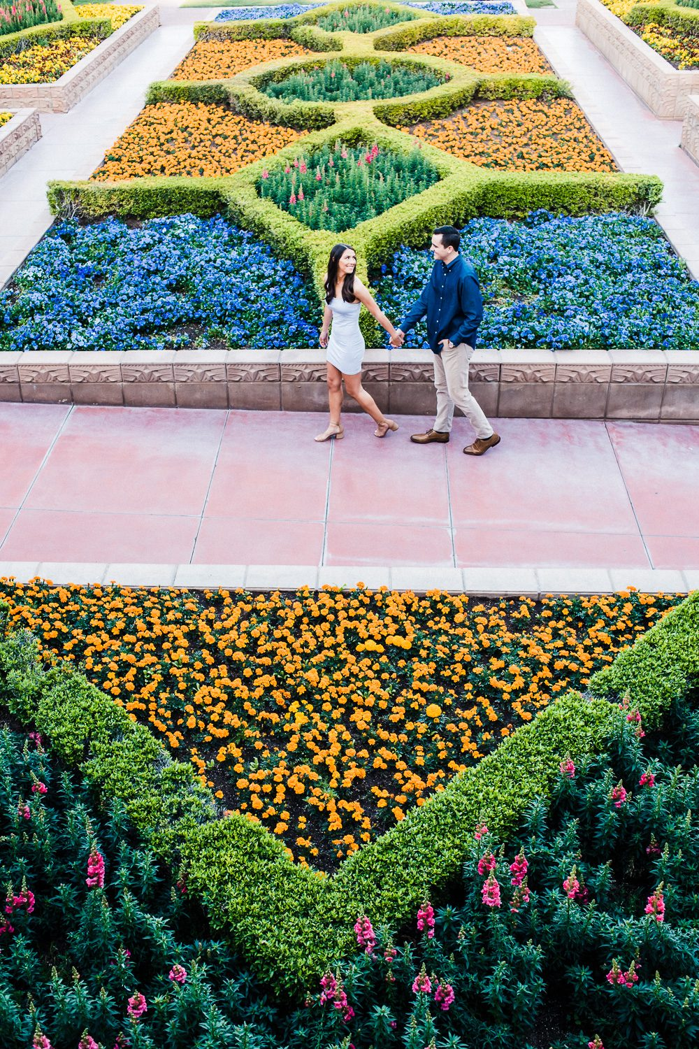 Arizona Biltmore Flower Garden Engagement