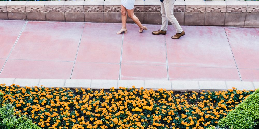 ARIZONA BILTMORE GARDEN ENGAGEMENT PHOTOS: Phoenix, AZ Photographer: Crystal + Michael