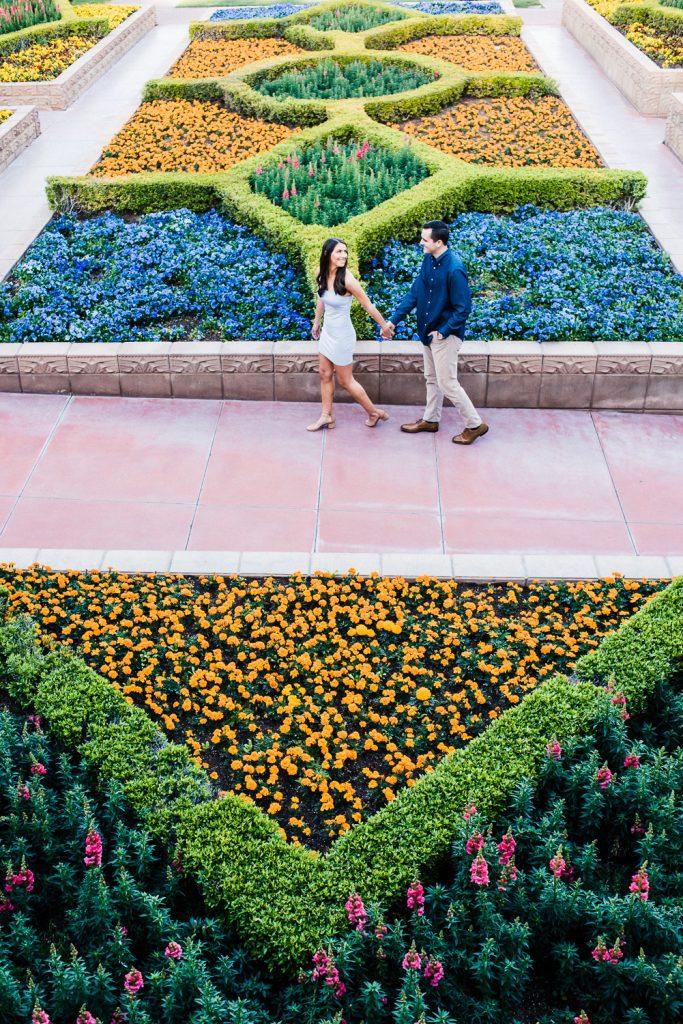Arizona Biltmore Flower Garden Engagement