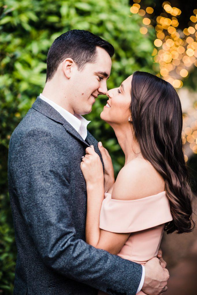 romantic candid engagement photo