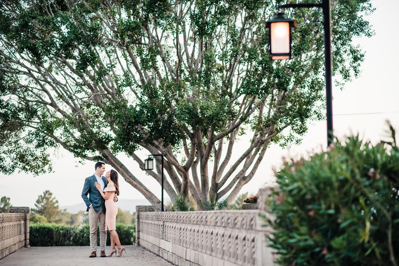 Romantic Bridge Engagement Photo