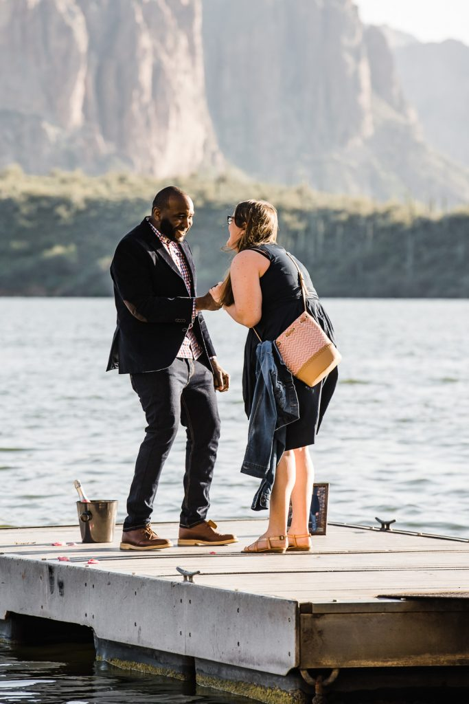 Surprise Proposal on Dock Arizona
