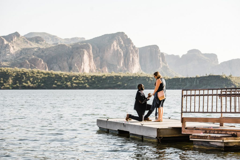 Saguaro Lake Arizona Proposal Photo