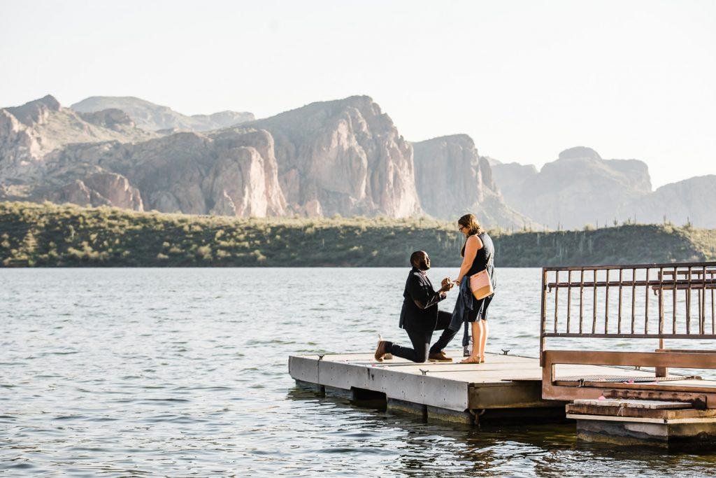 Saguaro Lake Arizona Proposal Photo