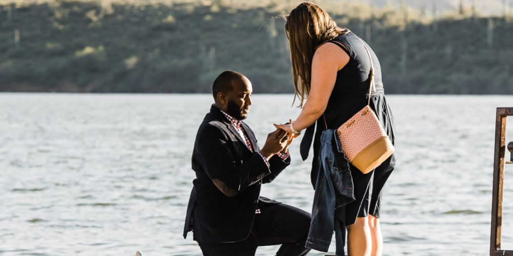SURPRISE DESTINATION WEDDING PROPOSAL: Saguaro Lake AZ: Becca + Keron