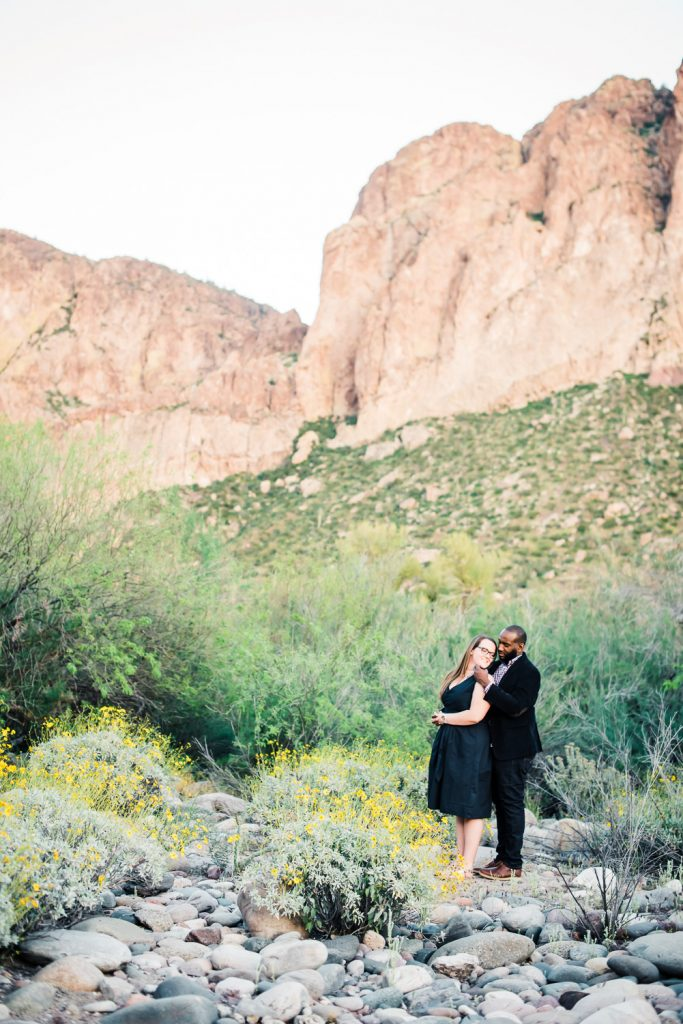 Salt River Engagement Photo