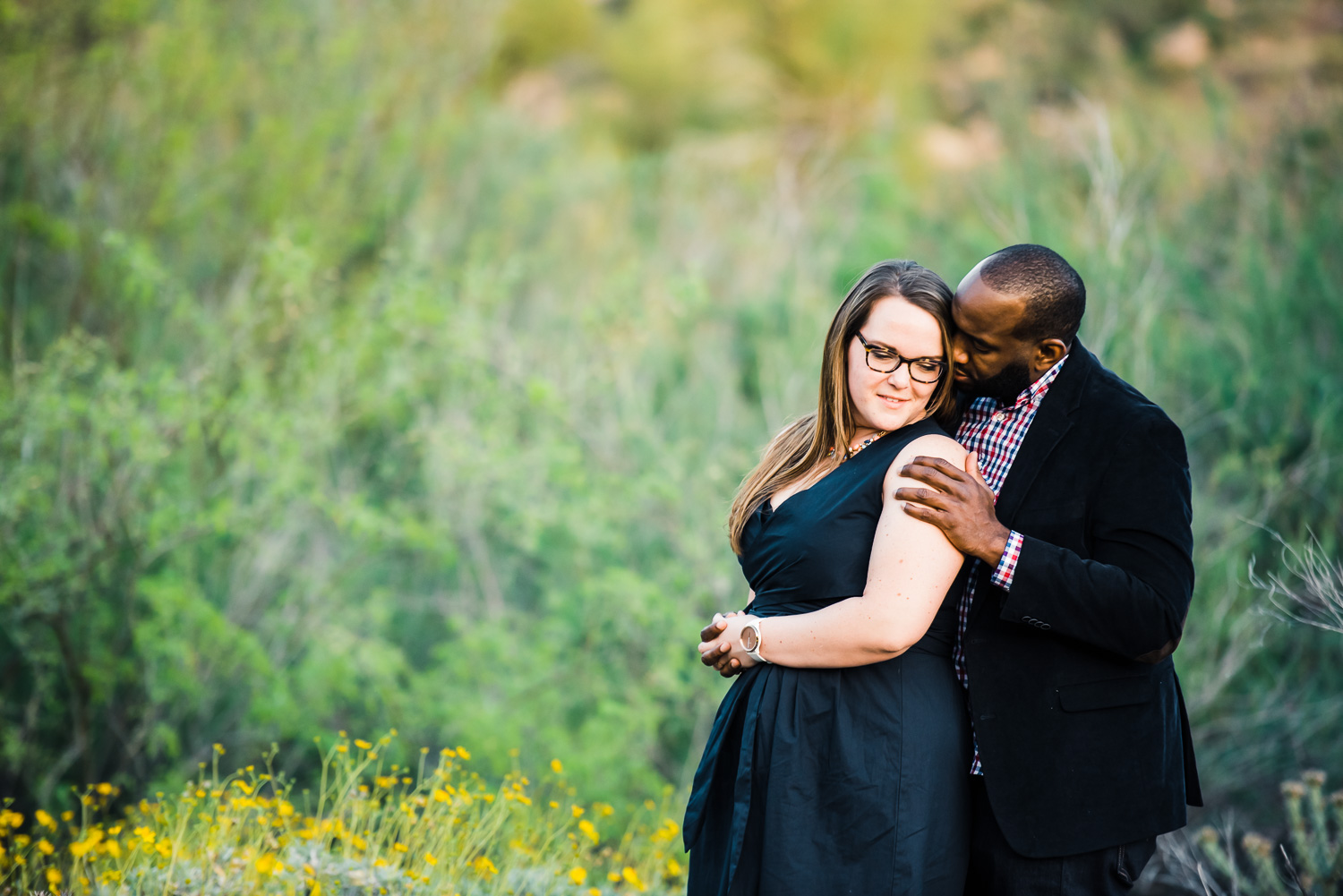 Romantic Arizona engagement photo