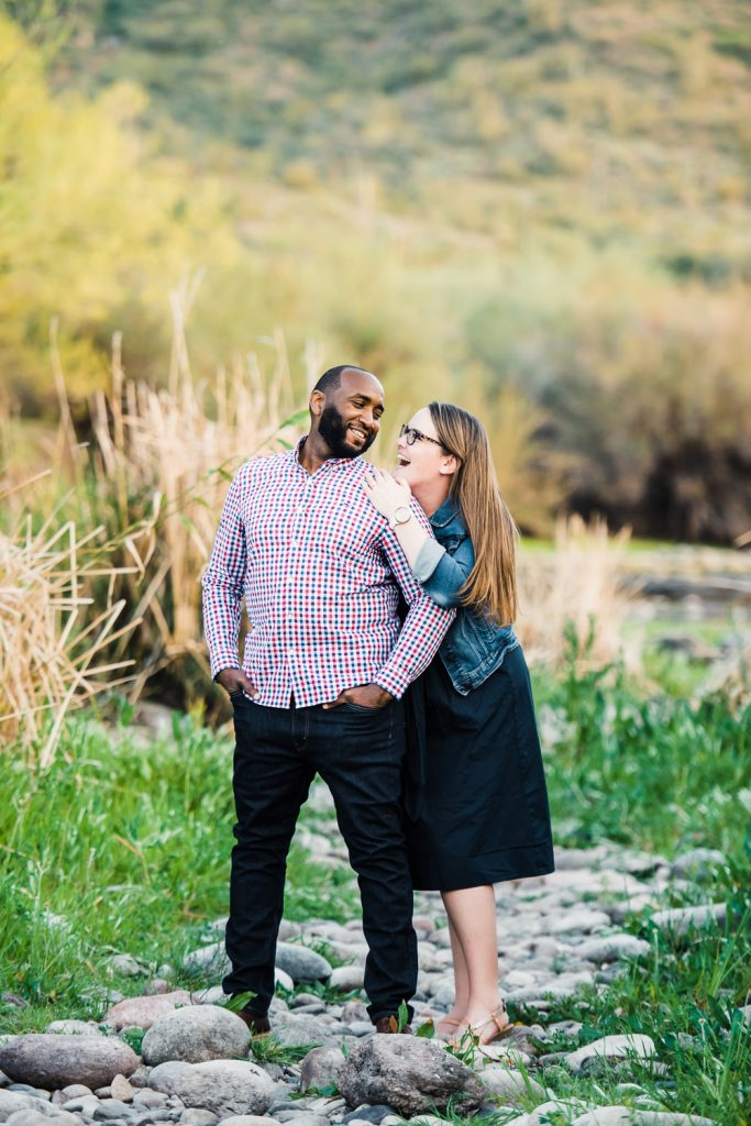 Fun Arizona River Engagement
