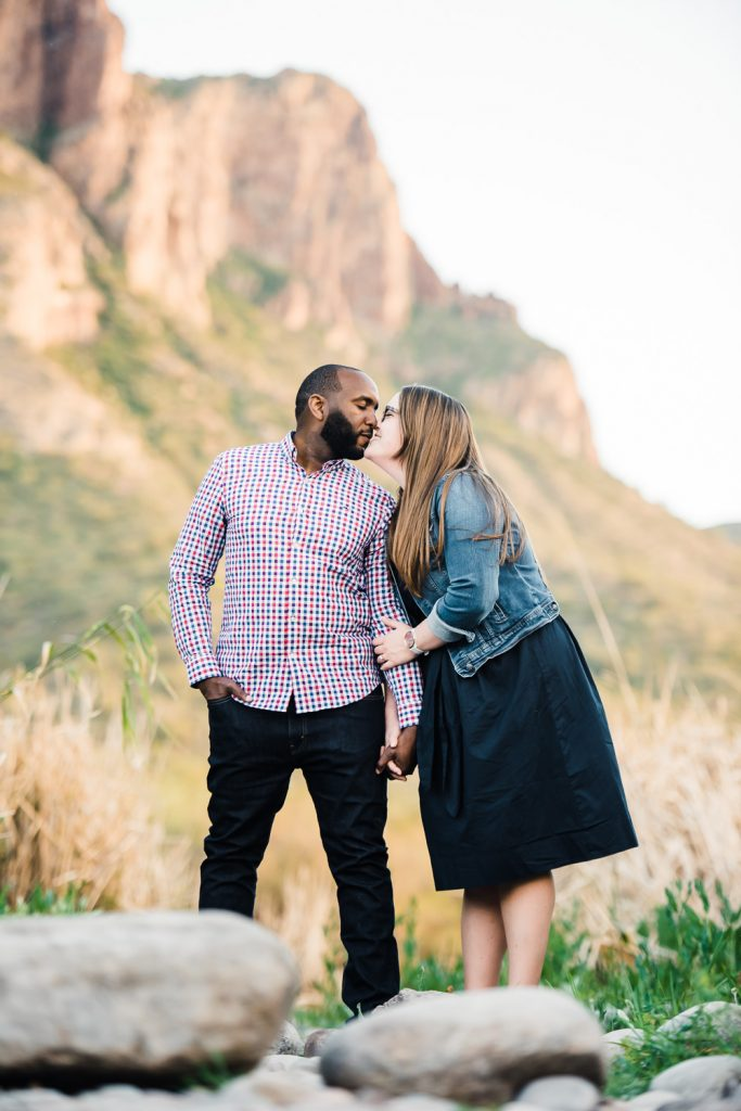 Sweet Arizona Engagement Photo
