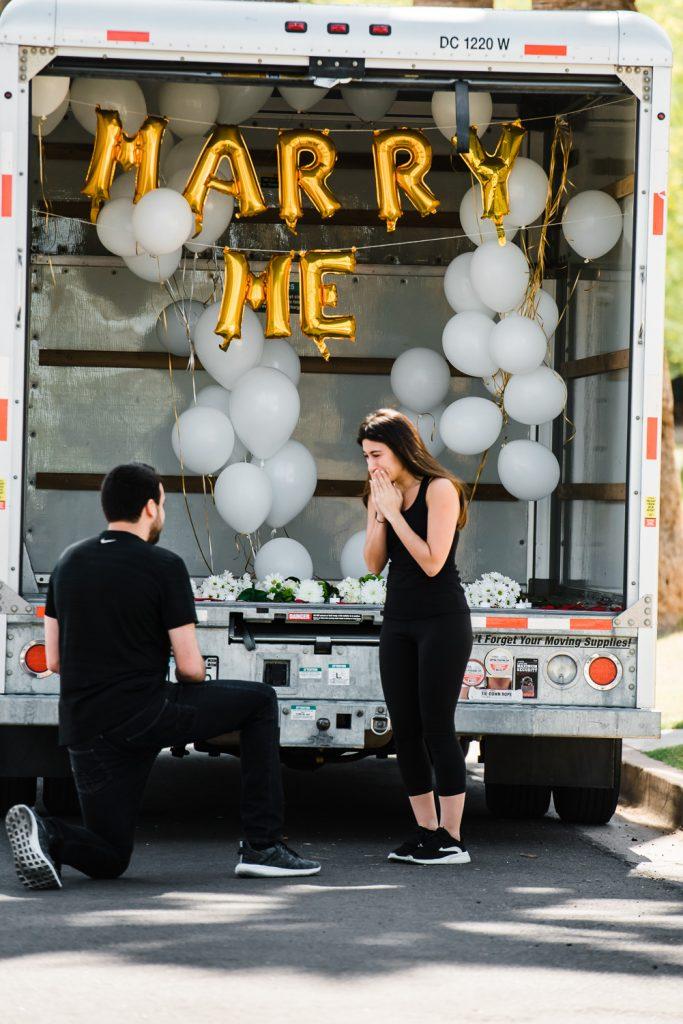 Emotional wedding proposal