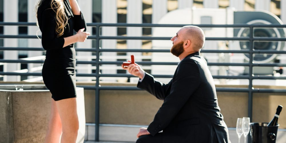 INCREDIBLE ROOFTOP MARRIAGE PROPOSAL: Phoenix, AZ: Kamber + Brett