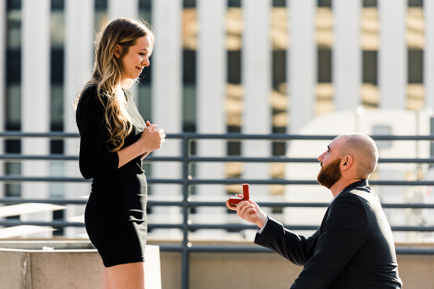 Downtown Phoenix Proposal Photo, Romantic Arizona Proposal Photo, Unique way to propose