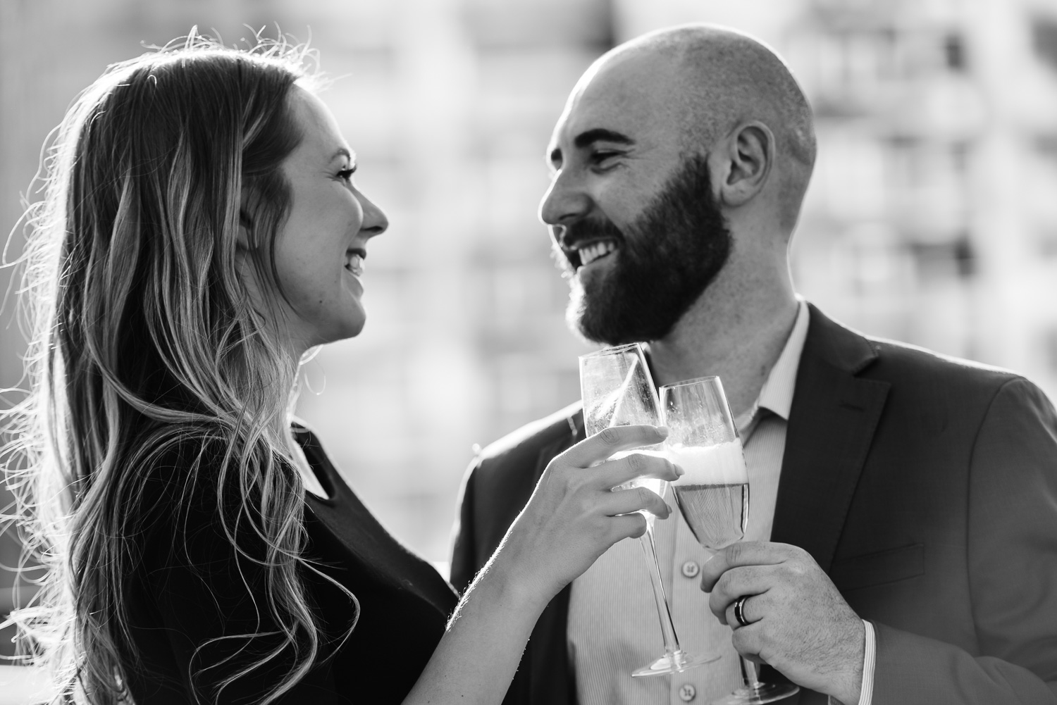 champagne toast romantic engagement