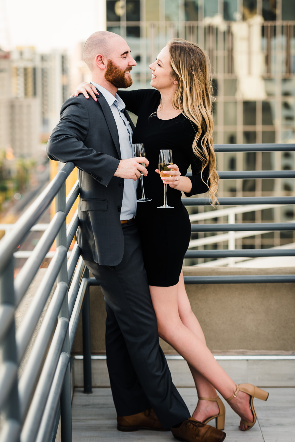 epic downtown phoenix engagement