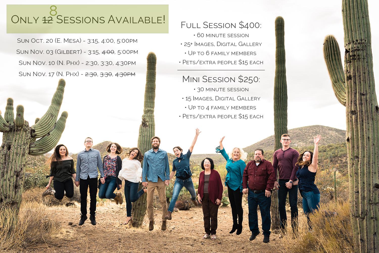 Fall 2019 Family Photo Session Phoenix Arizona