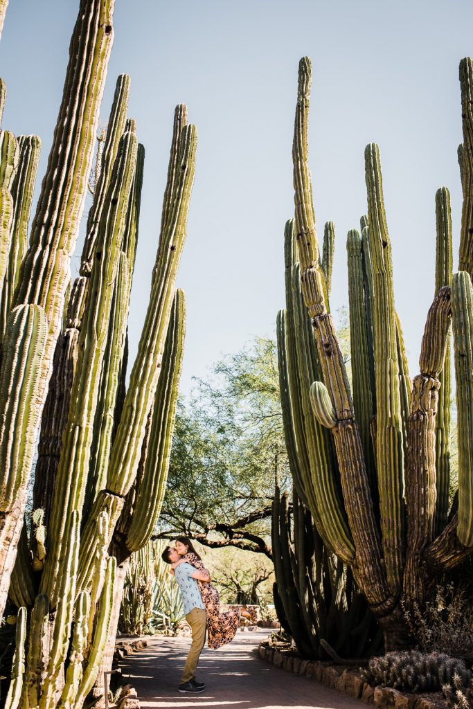 Desert Botanical Gardens Engagement Photos