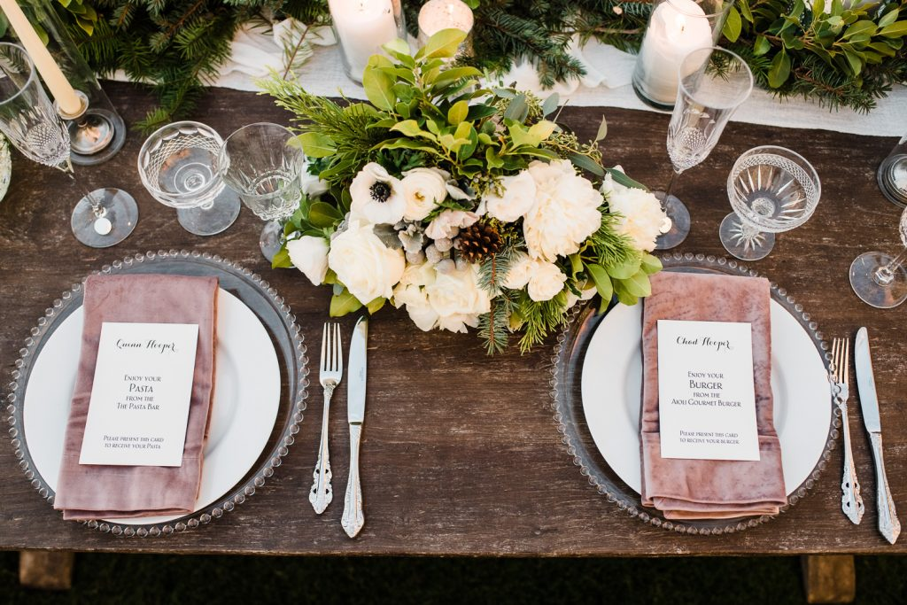 Classic wedding table setting