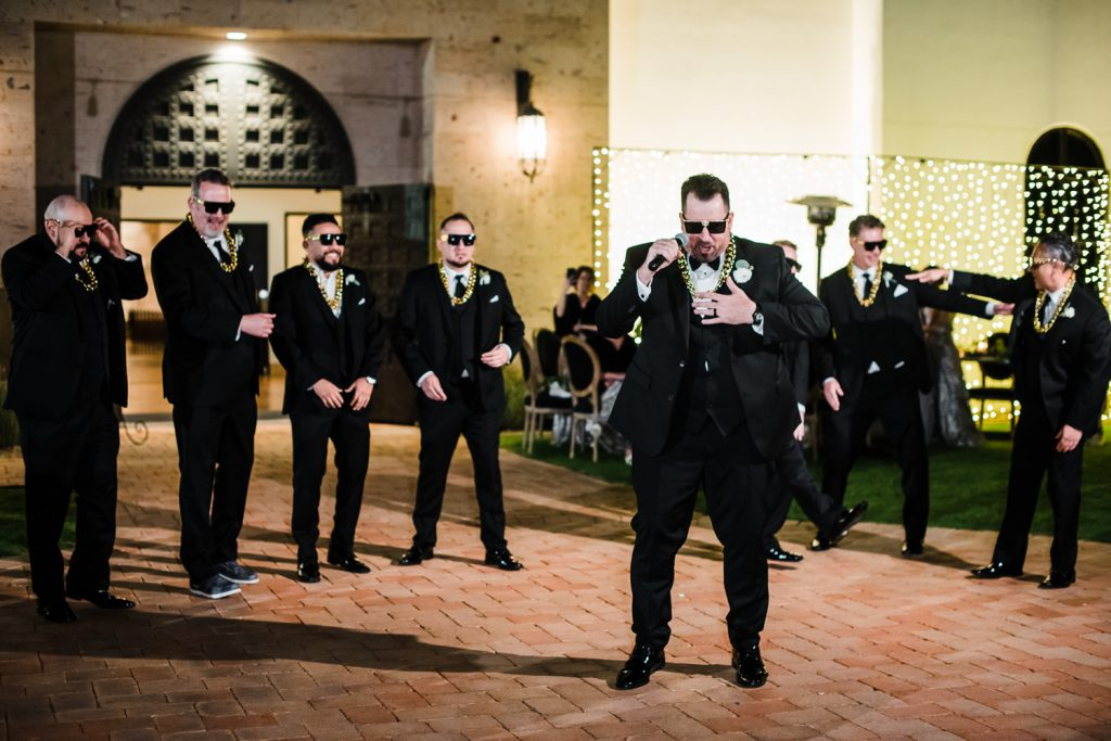 Groom raps the Humpty Dance