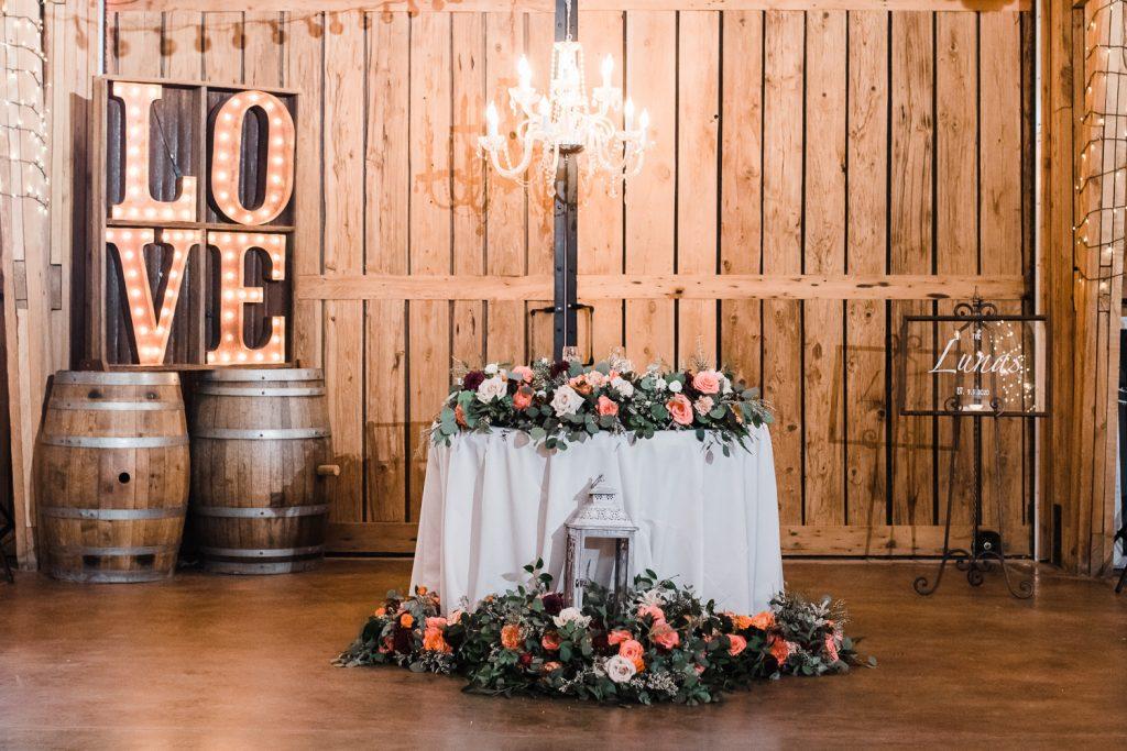 Windmill Winery Barn Wedding Sweetheart Table