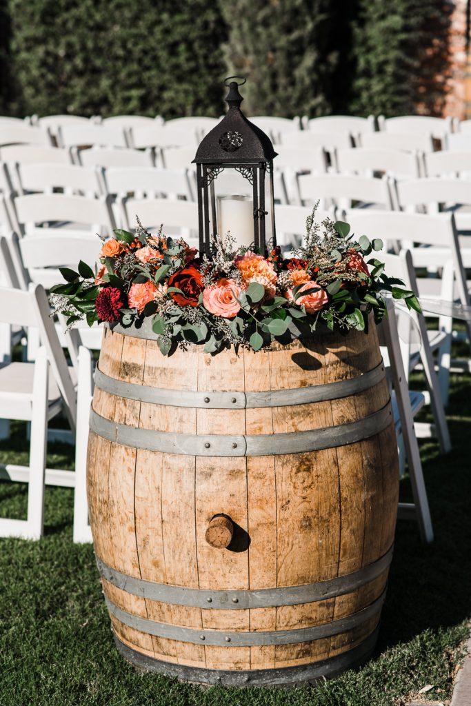 Windmill Winery Wine Barrel Flower Details