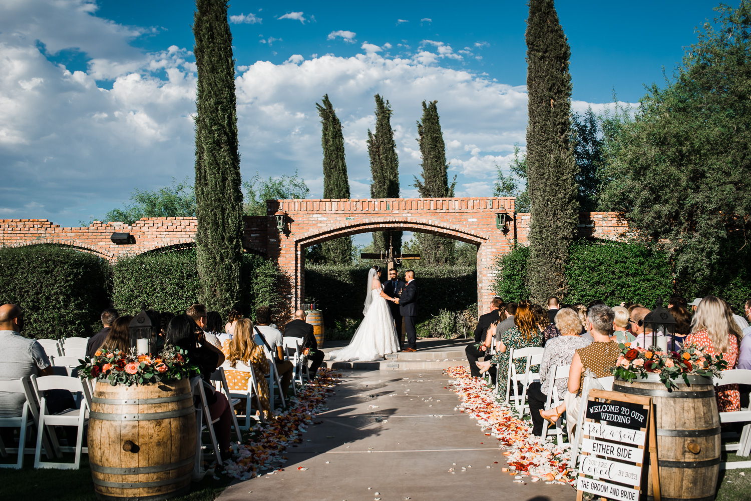 Windmill Winery Arches Wedding Ceremony