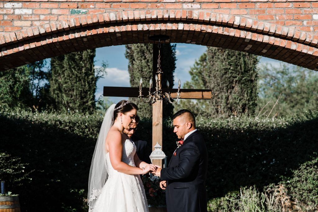 Windmill Winery Arch Wedding Rings
