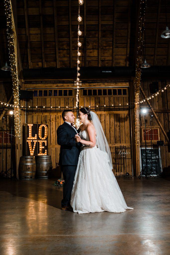 Windmill Winery Barn Wedding First Dance