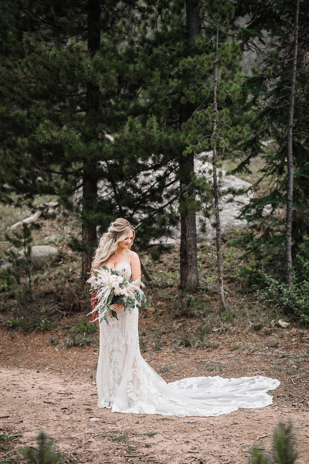 Gorgeous bride at Piney River Ranch wedding in Vail CO