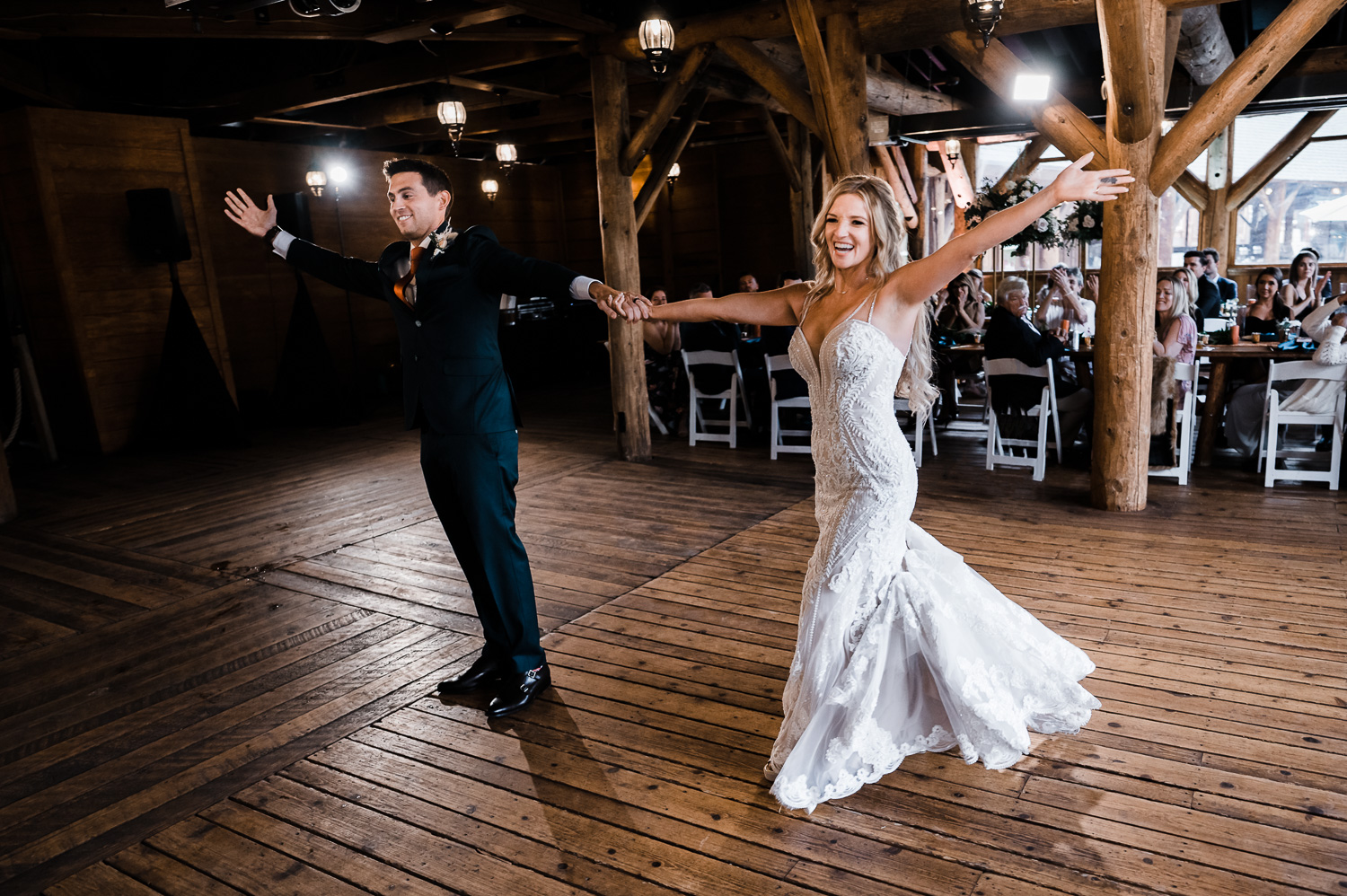 First dance at Piney River Ranch wedding